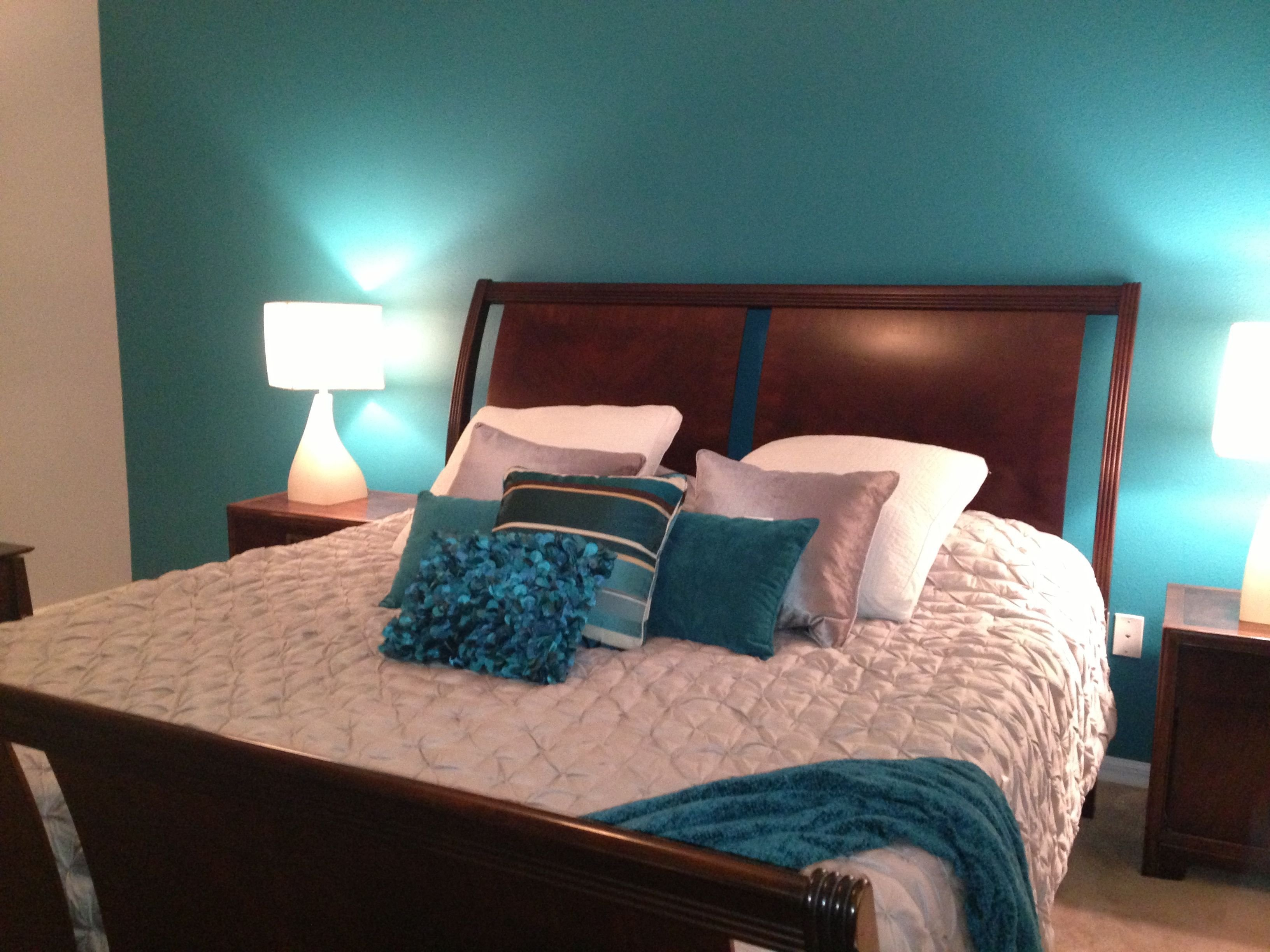 Best My Master Bedroom Teal And Grey My Rooms Pinterest With Pictures