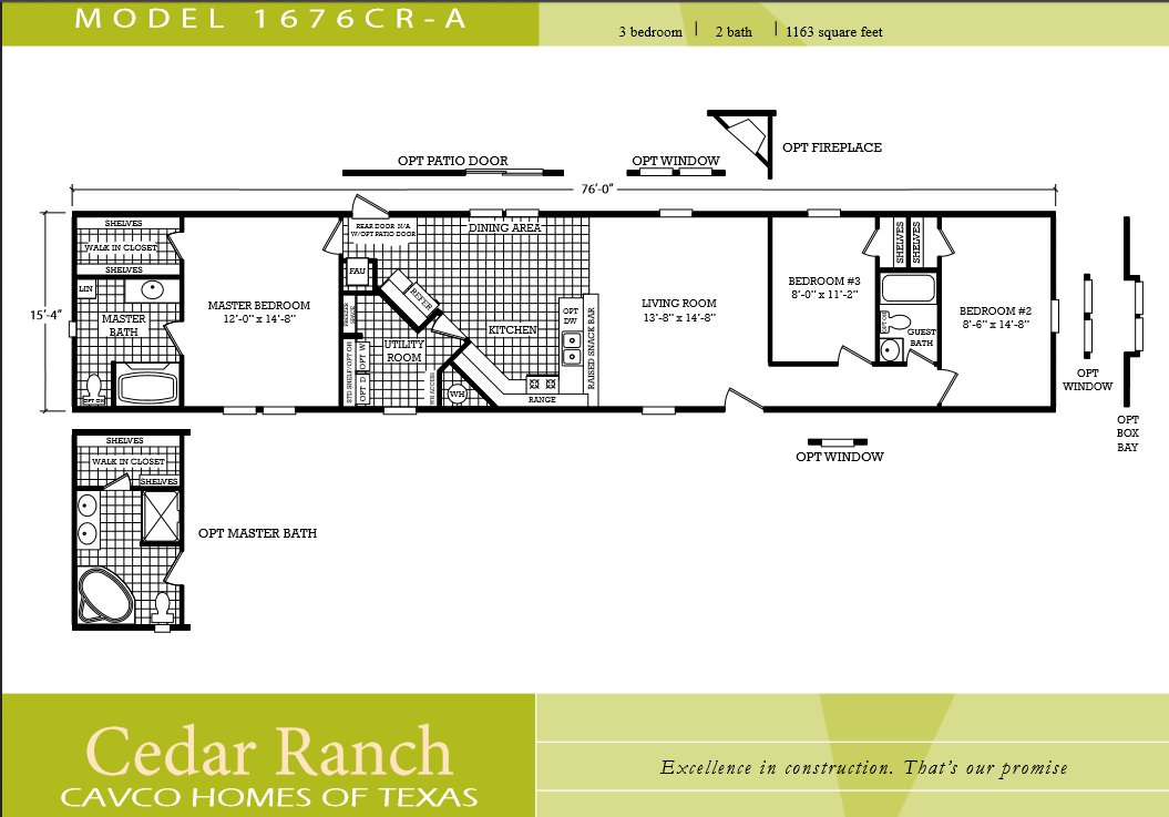 Best Scotbilt Mobile Home Floor Plans Singelwide Single Wide With Pictures