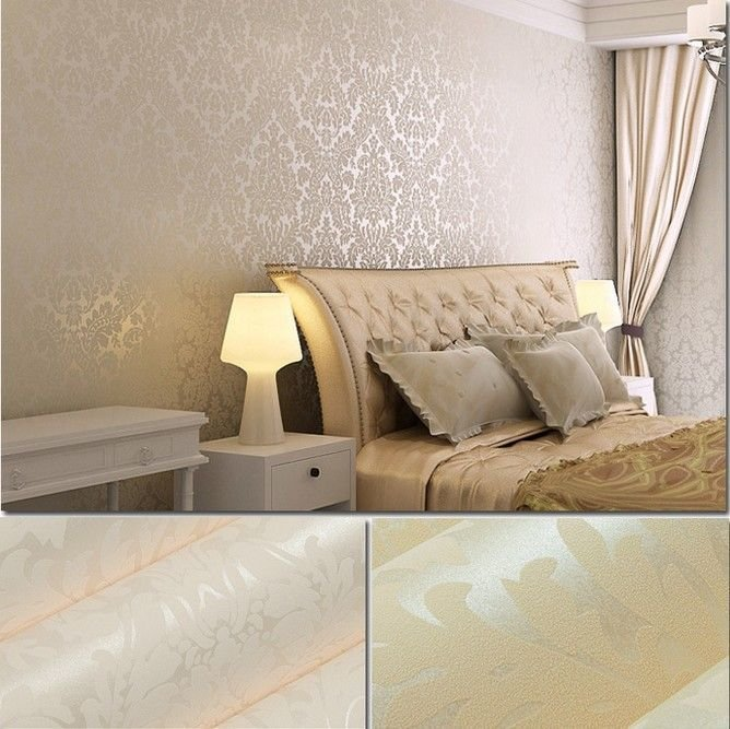 Best European Vintage Damask Art Non Woven Wall Paper Glitter With Pictures