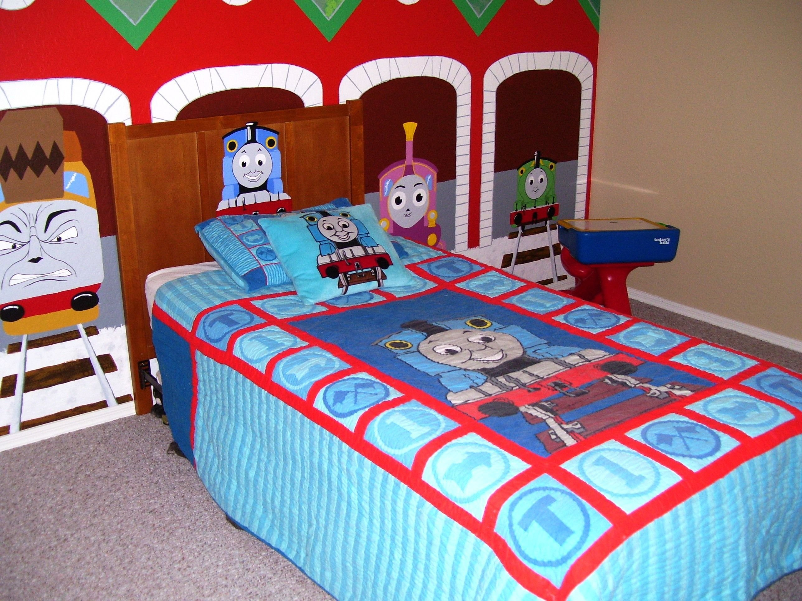 Best Thomas The Train Bedroom With Mural Murals Thomas The With Pictures