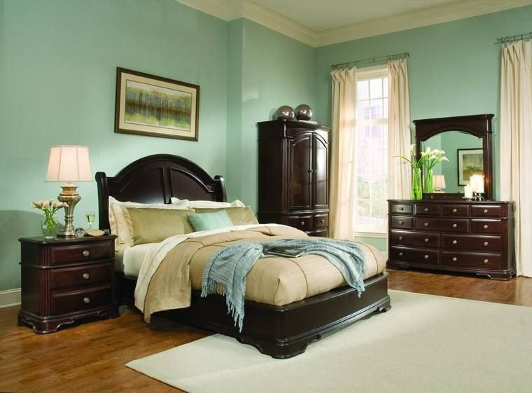 Best Light Green Bedroom Ideas With Dark Wood Furniture Light With Pictures