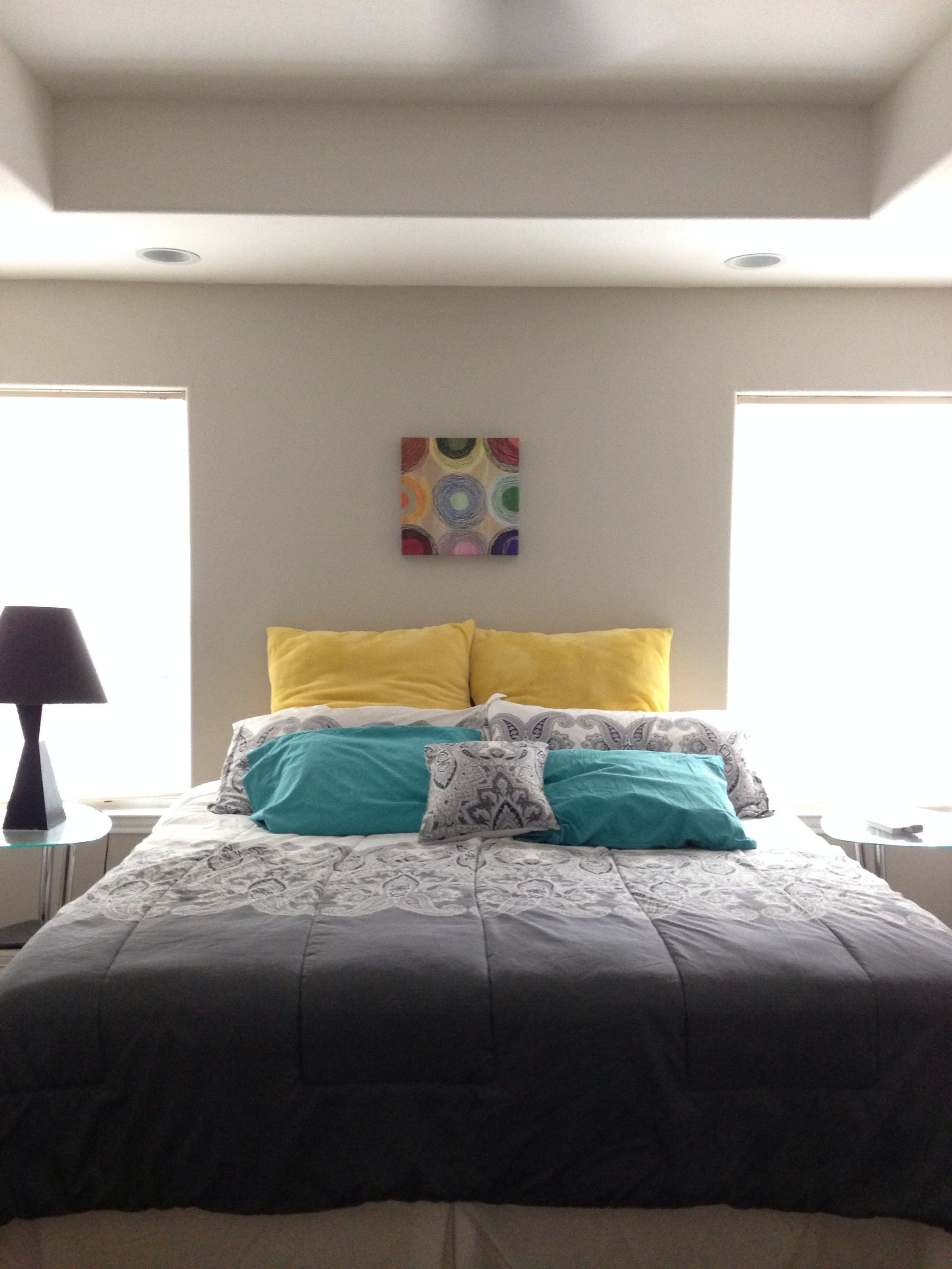 Best White Grey Yellow Teal Bedroom Color Inspiration With Pictures