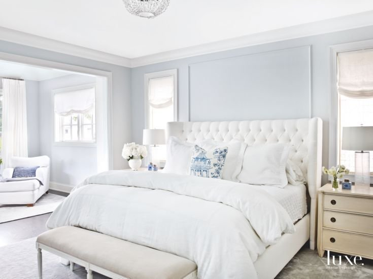 Best Soft Light Blue Master Bedroom With Blue Pillow Touches With Pictures