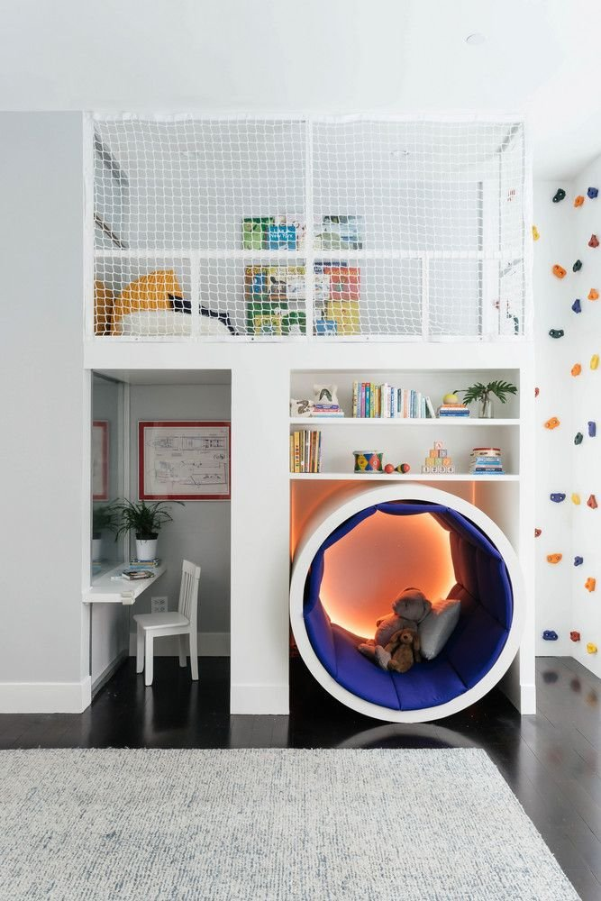 Best This Colorful Kids' Room Has A Climbing Rock Wall With Pictures