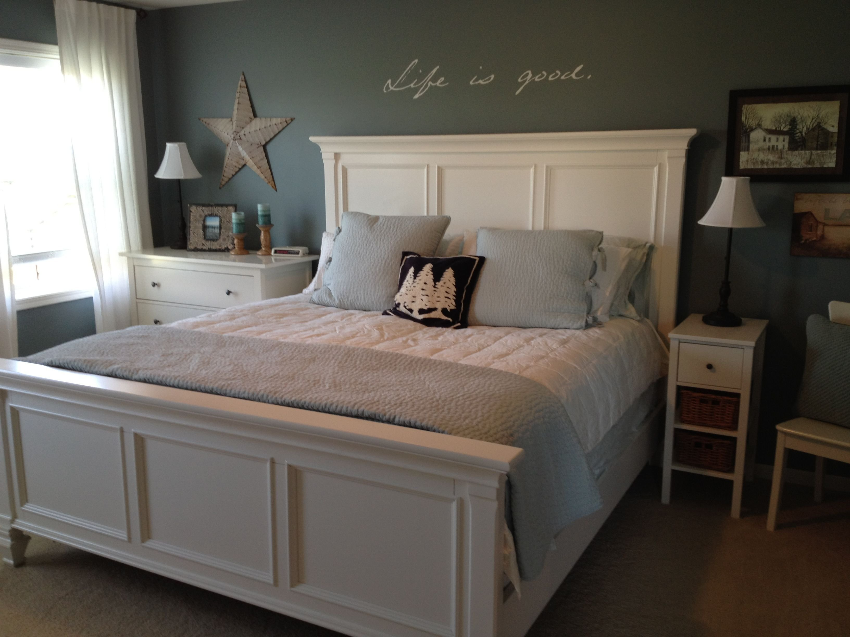 Best My Room Blue White Bedroom Pottery Barn Pick Stitch With Pictures