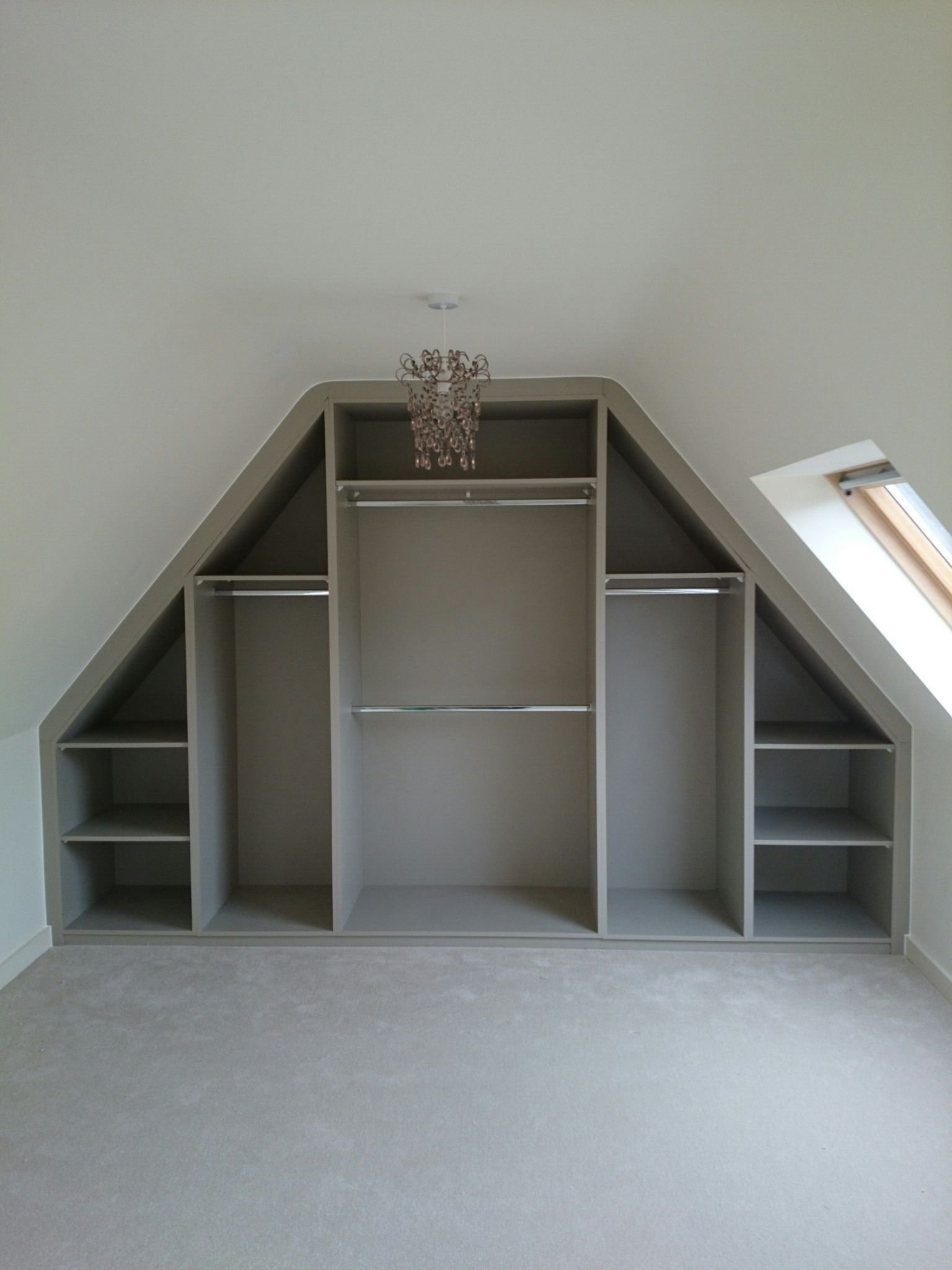 Best Sloping Ceiling Wardrobe Angled Made To Measure Rigid With Pictures