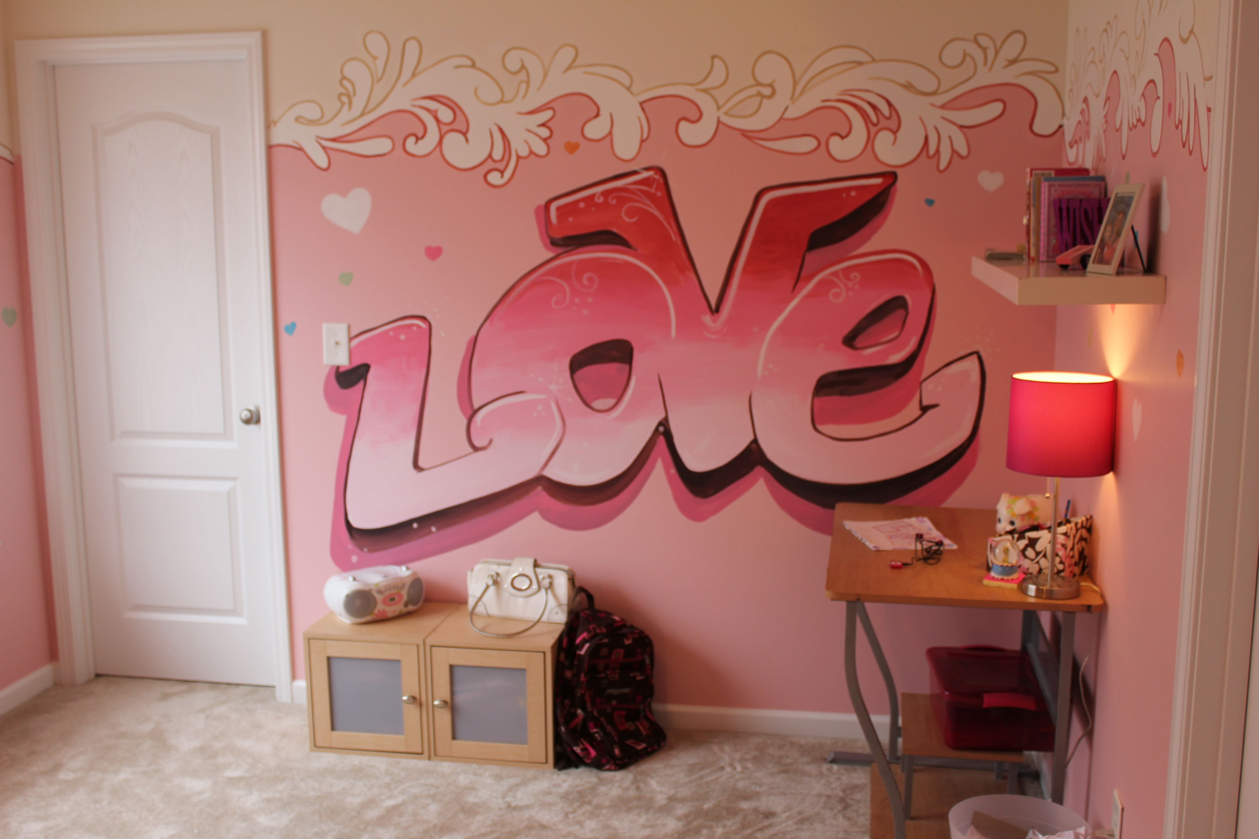 Best Graffiti Murals For Bedrooms Girls Girls Bedroom Ideas With Pictures
