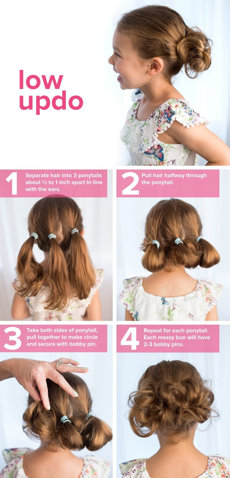 Free 5 Fast Easy Cute Hairstyles For Girls Low Updo Wallpaper