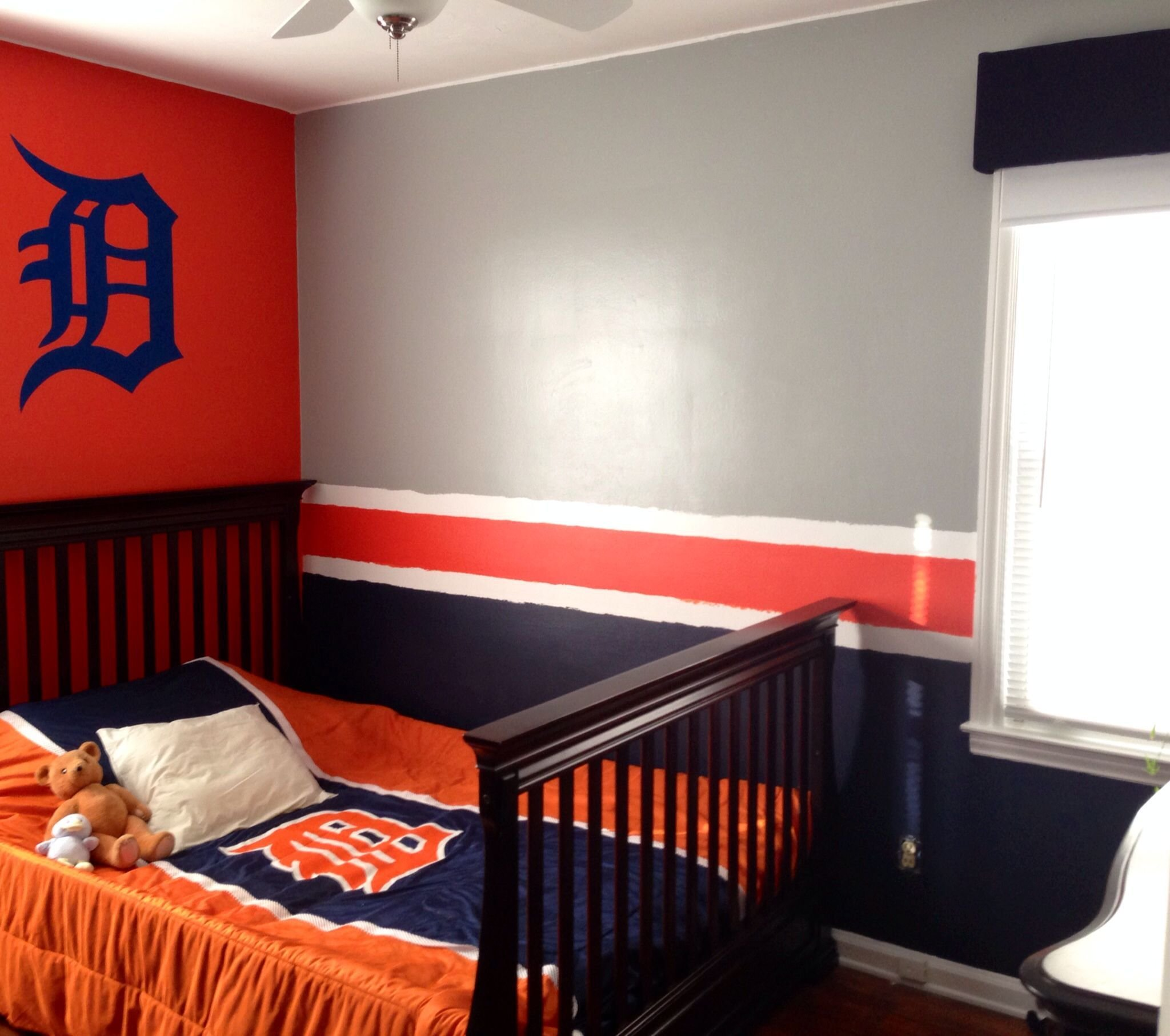Best Detroit Tigers Baseball Bedroom Boy S Room With Detroit With Pictures