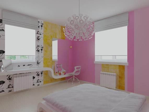 Best White Pink And Yellow T**N Girls Bedroom Colors Design With Pictures
