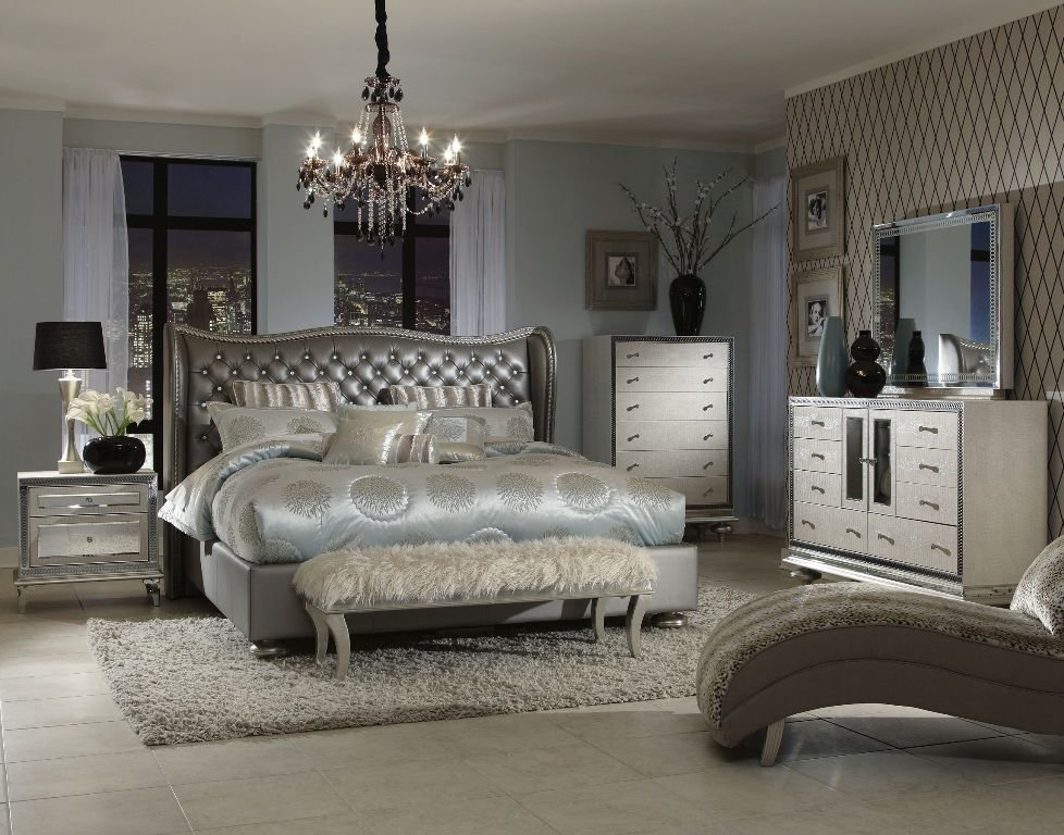 Best Romantic Decoration Upholstered Bedroom Sets For Women With Pictures