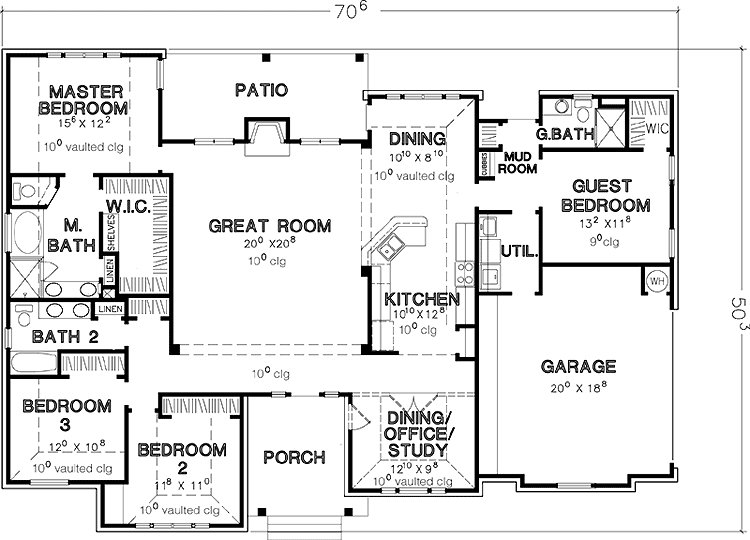 Best 4 Bedroom House Plans Single Story Google Search House With Pictures