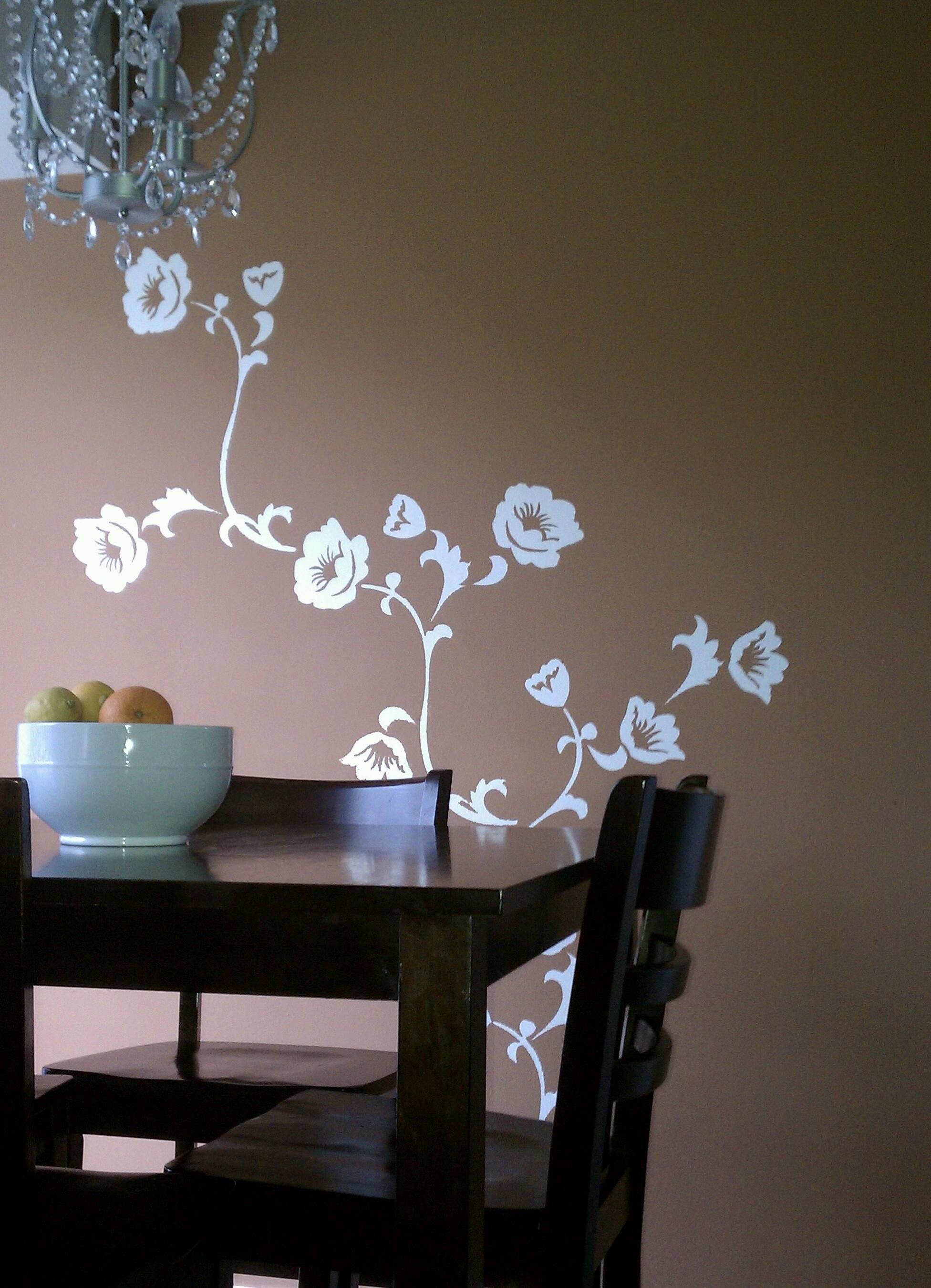Best Bedroom Wall Stencil Ideas Dining Room Decoration With Pictures