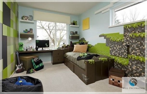 Best Minecraft Game Room Decor Minecraft Themed Bedroom Decorating Your Kid's Room With A Minecraft With Pictures