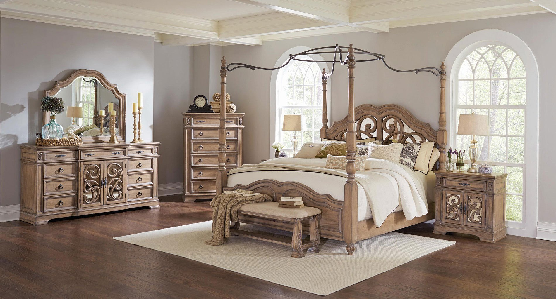Best Ilana Canopy Bedroom Set By Coaster Furniture Furniturepick With Pictures
