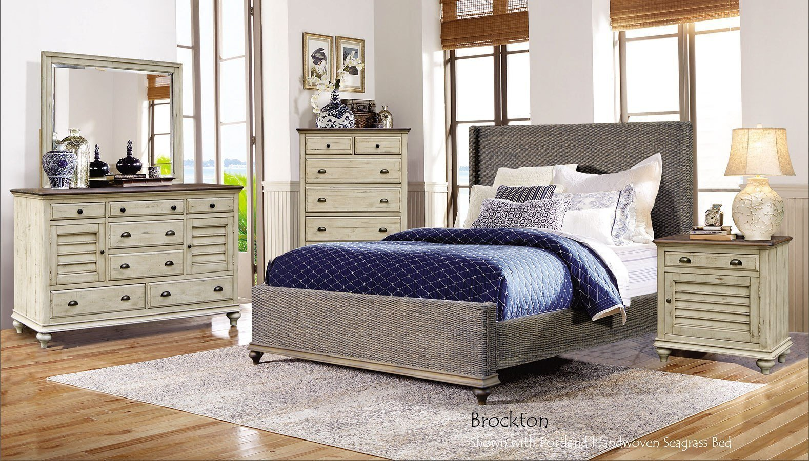 Best Brockton Portland Seagrass Panel Bedroom Set By Cottage With Pictures