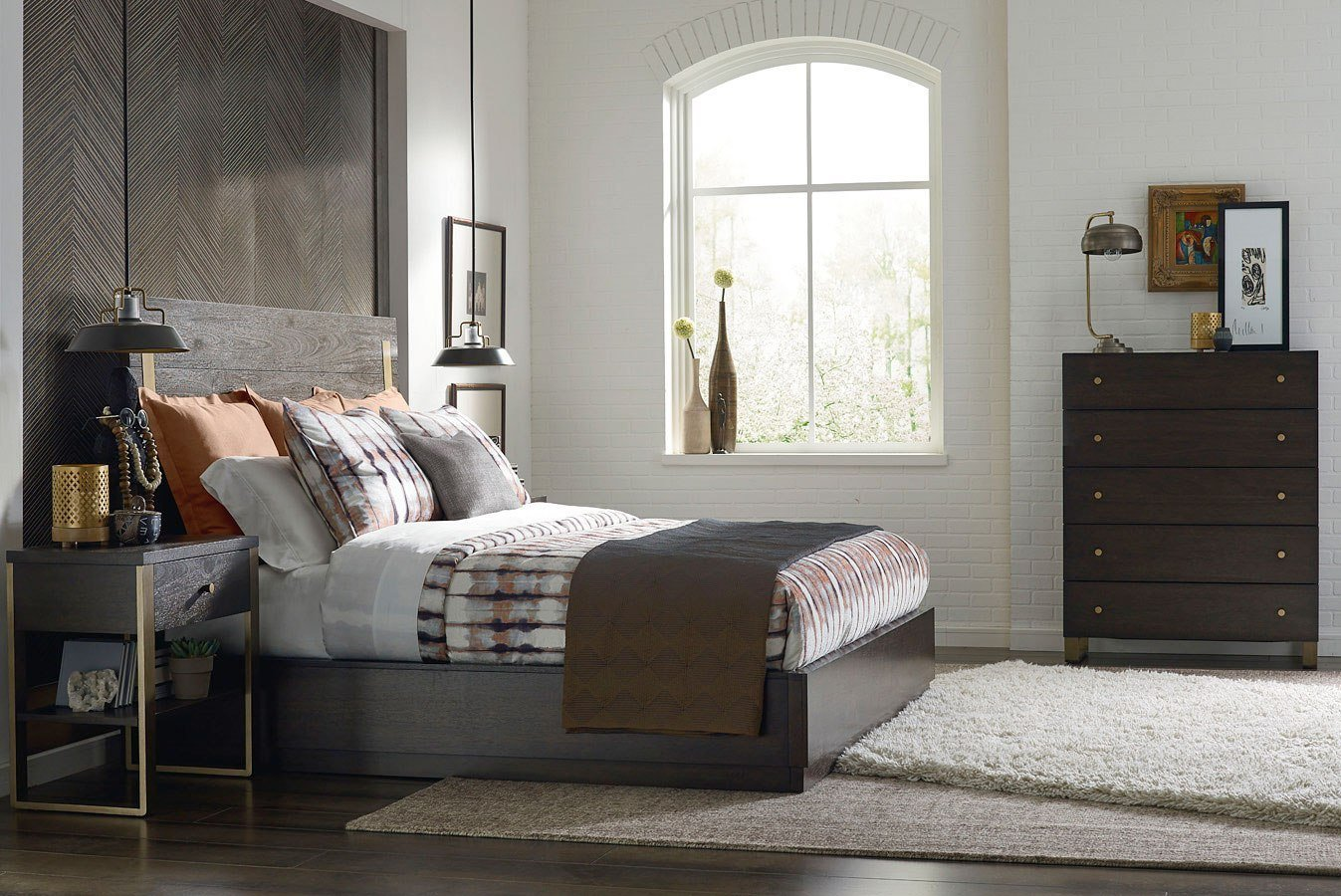 Best Austin Metal Accent Panel Bedroom Set By Rachael Ray Home With Pictures