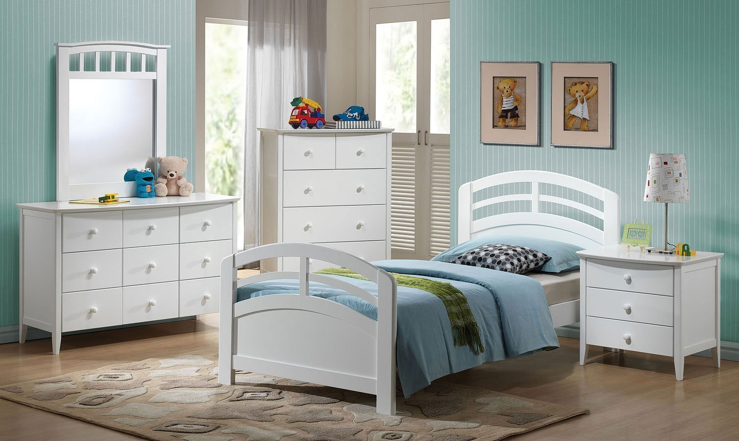 Best San Marino Panel Bedroom Set White Acme Furniture With Pictures