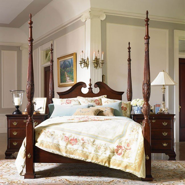 Best Carriage House Broken Pediment Rice Bed Kincaid Furniture With Pictures