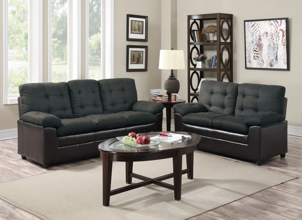 Best Gray Black Sofa Love Seat Price Busters With Pictures