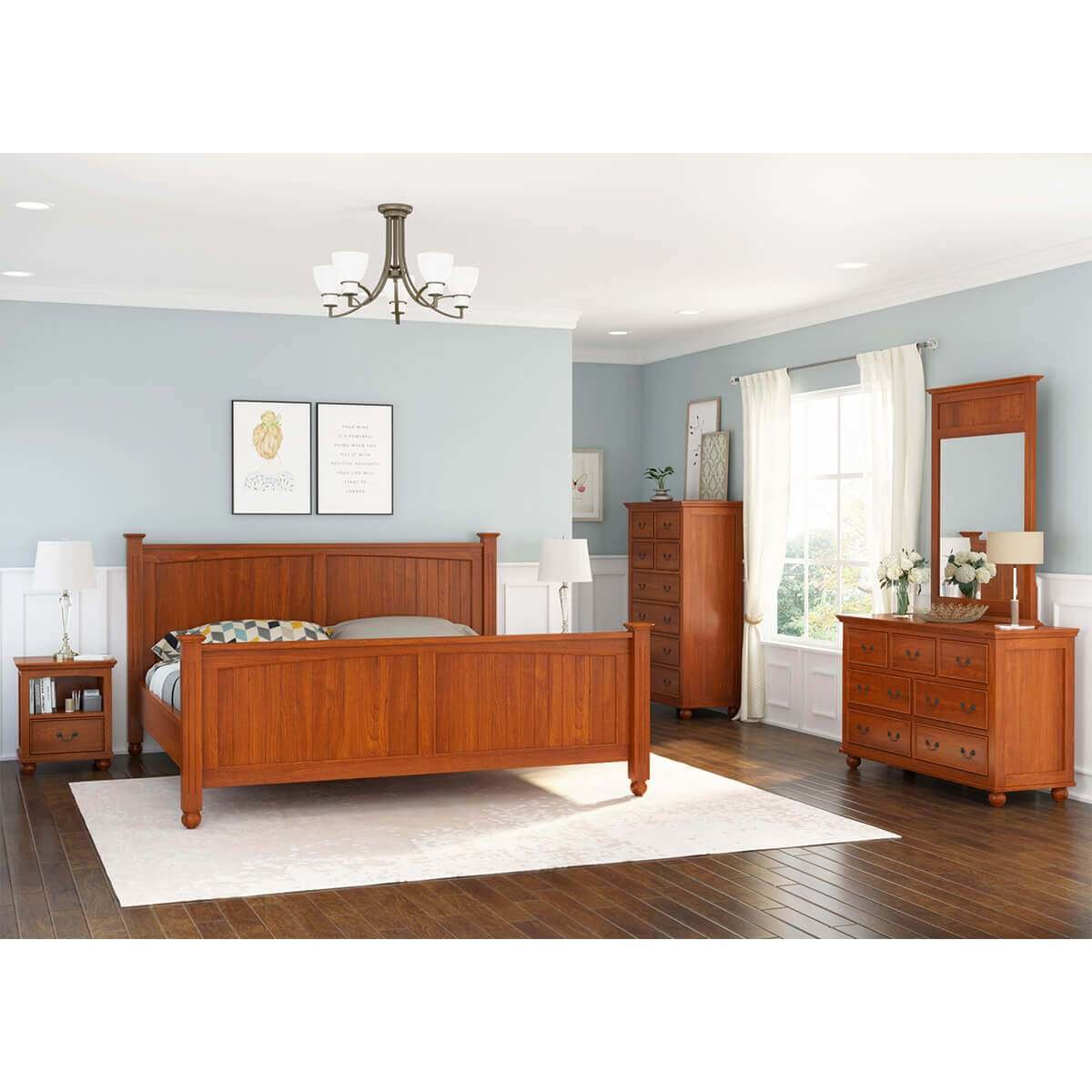 Best Delanson Solid Mahogany Wood 6 Piece Bedroom Set With Pictures