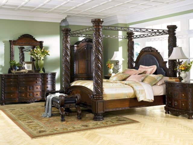 Best Ashley Furniture B553 North Shore Traditional King Canopy With Pictures