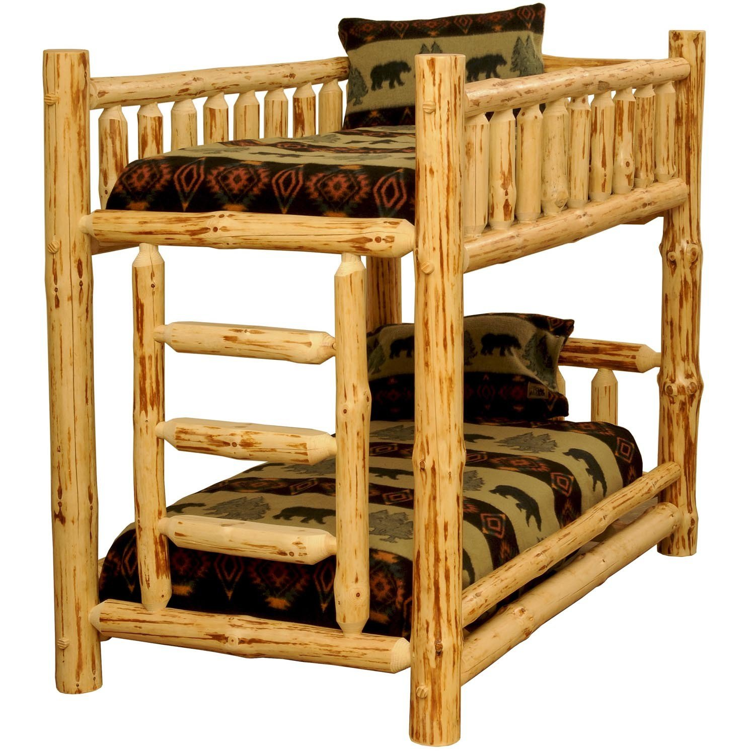 Best Rustic Pine Log Bunkbeds Big Bear Lodge Bunk Beds The With Pictures