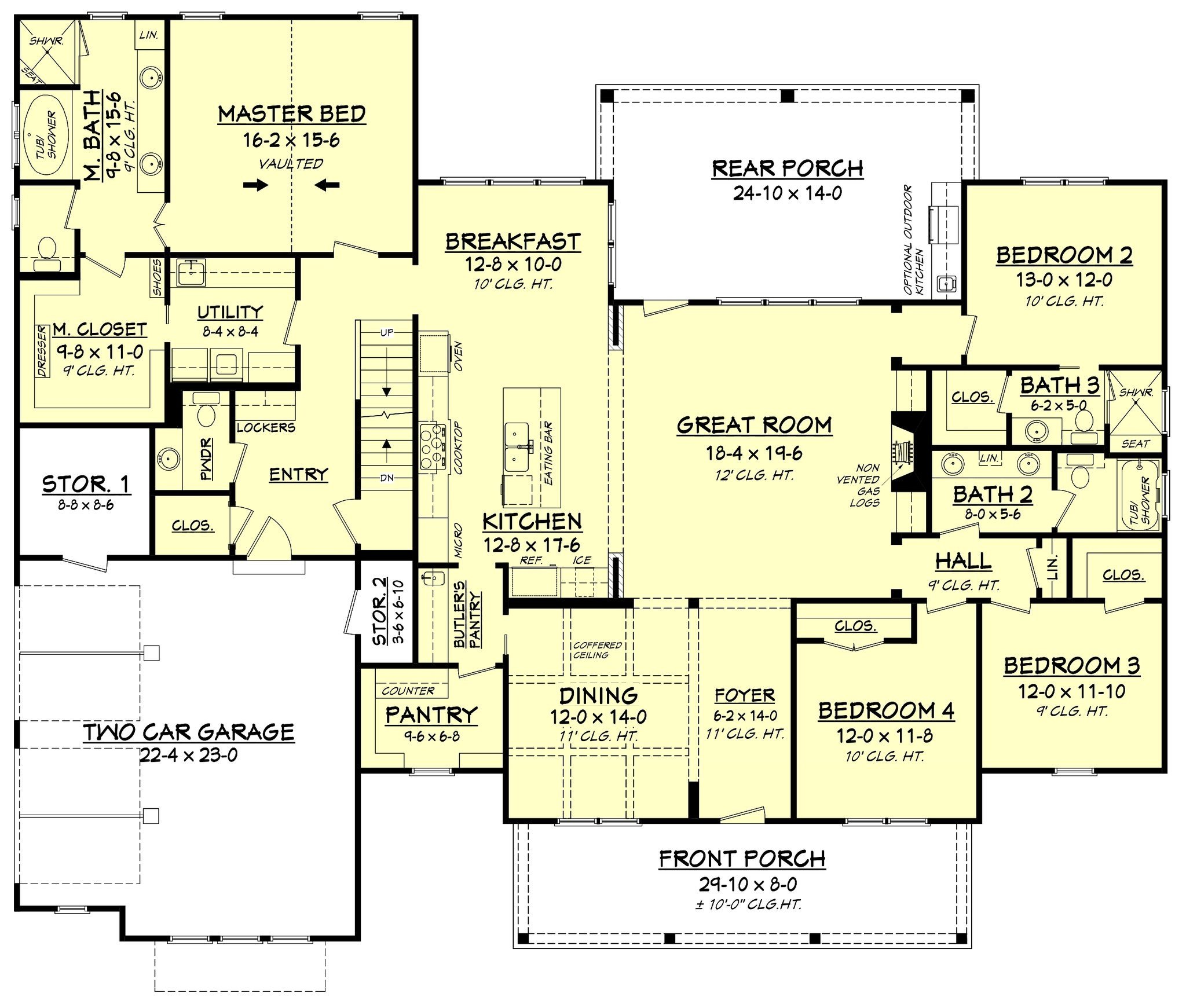 Best Transitional Country Farmhouse Plan 4 Bedrms 3 5 Baths With Pictures