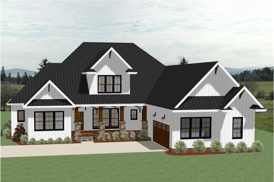 Best Farmhouse House Plan 4 Bedrms 3 5 Baths 3390 Sq Ft 189 1104 With Pictures