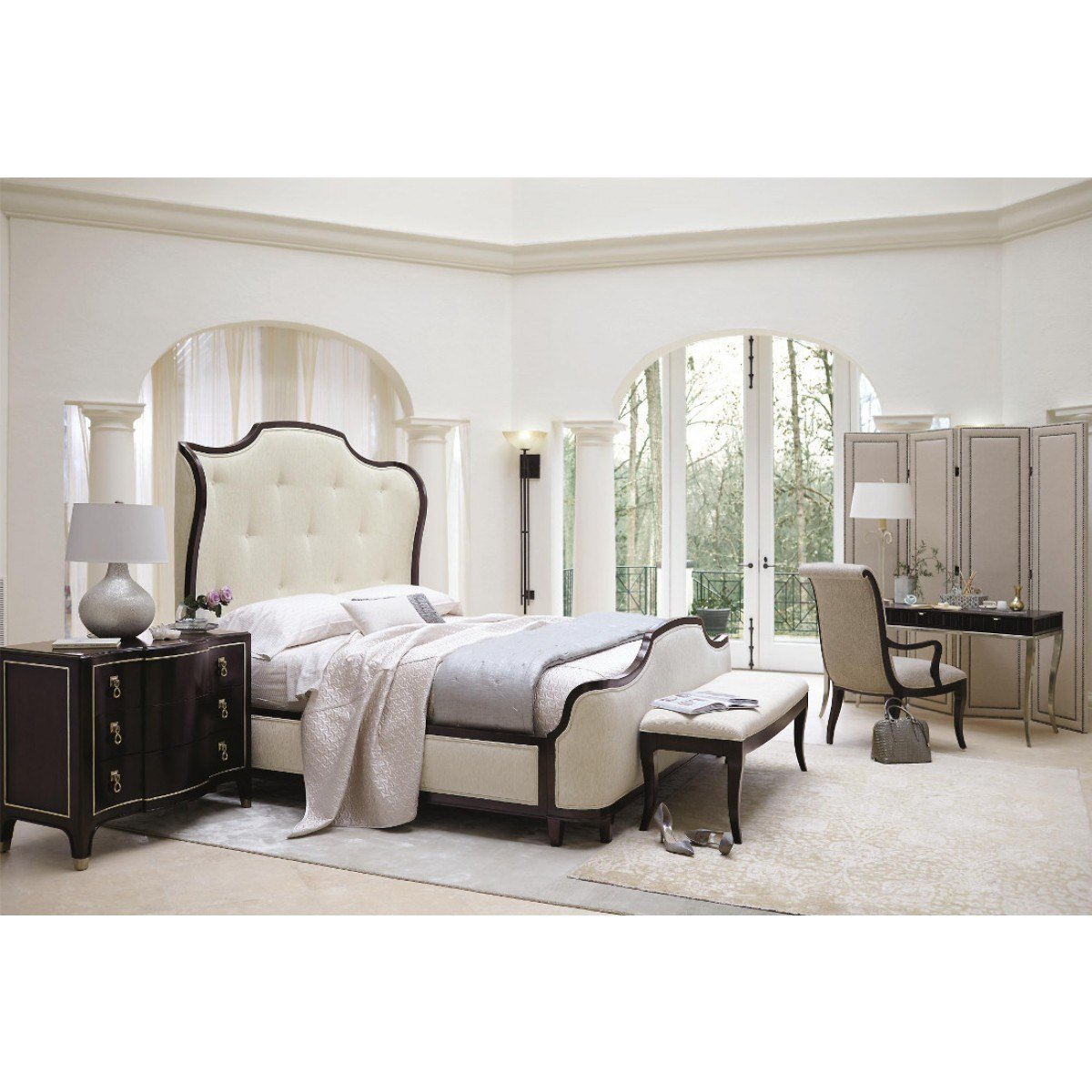 Best Bernhardt Miramont Upholstered Panel Bedroom Set With Pictures