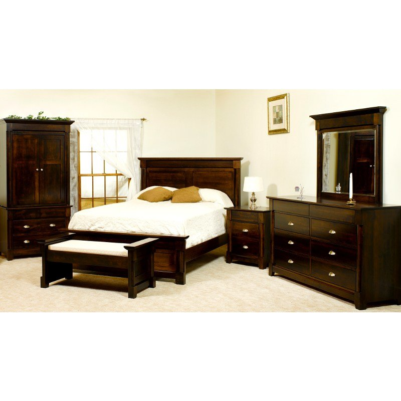 Best Amish Lansing Bed Usa Made Bedroom Furniture American With Pictures