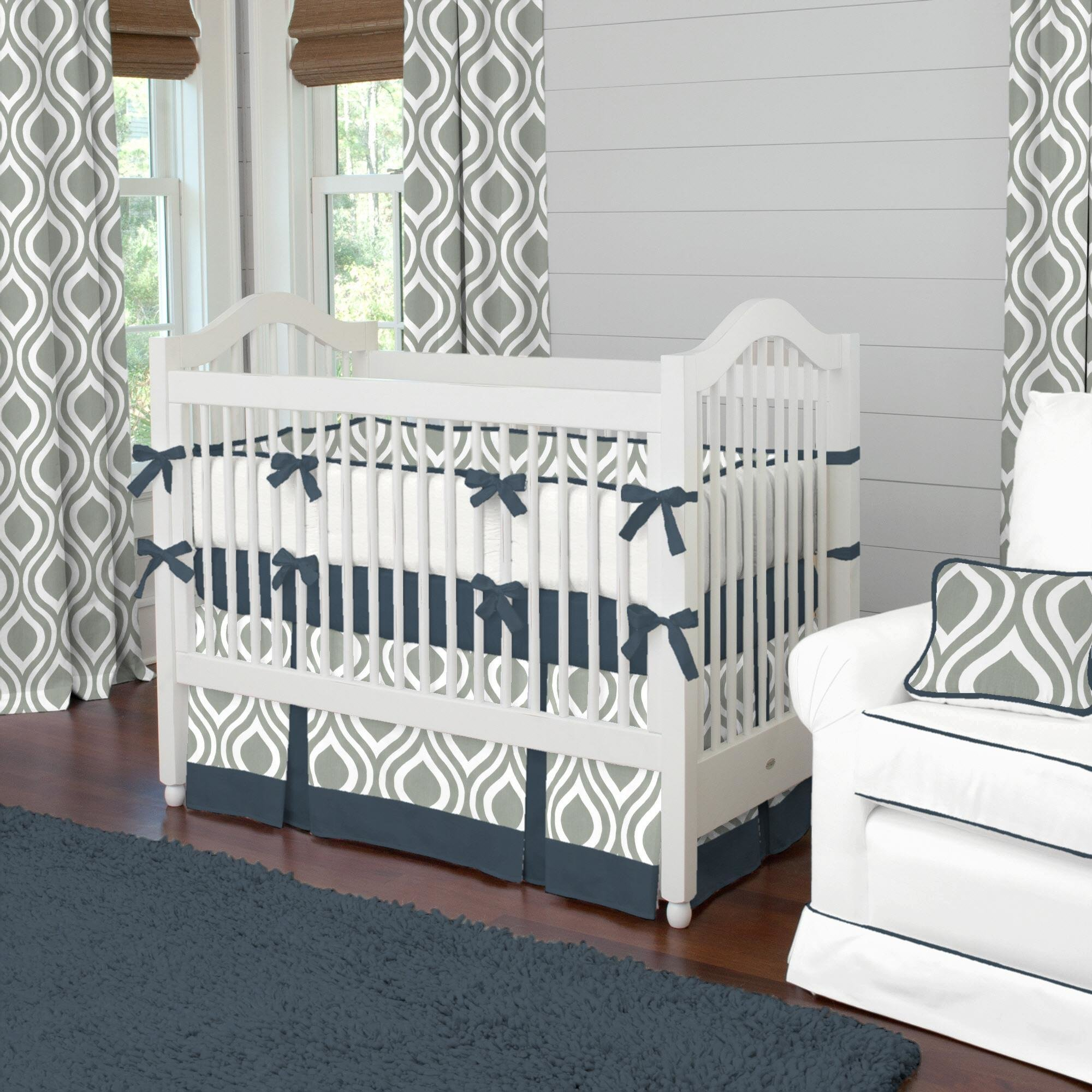 Best Gray And Navy Raindrops Crib Bedding Boy Baby Bedding With Pictures