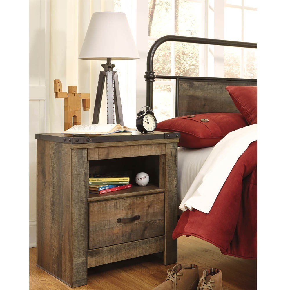 Best Trinell Youth Bedroom Nightstand Bernie Phyl's With Pictures