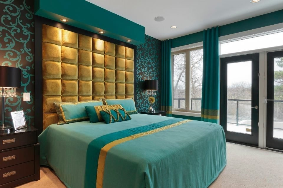 Best Bedroom In Teal And Gold Asian Los Angeles With Drawer With Pictures
