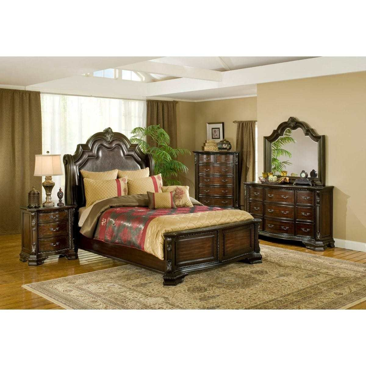 Best Alexandria Bedroom Bed Dresser Mirror King B1100 With Pictures