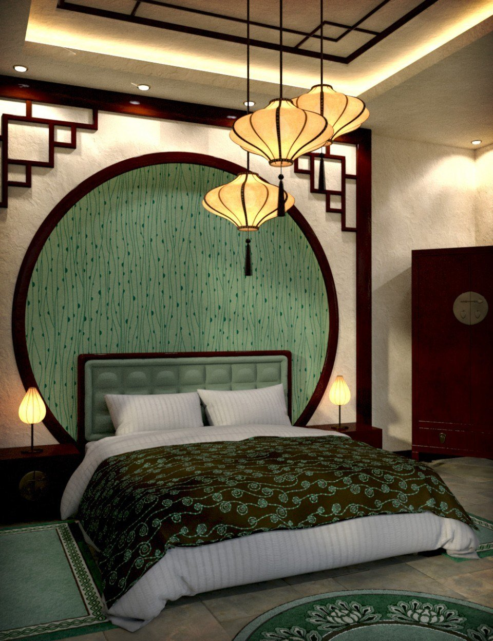 Best Modern Chinese Bedroom 3D Models And 3D Software By Daz 3D With Pictures