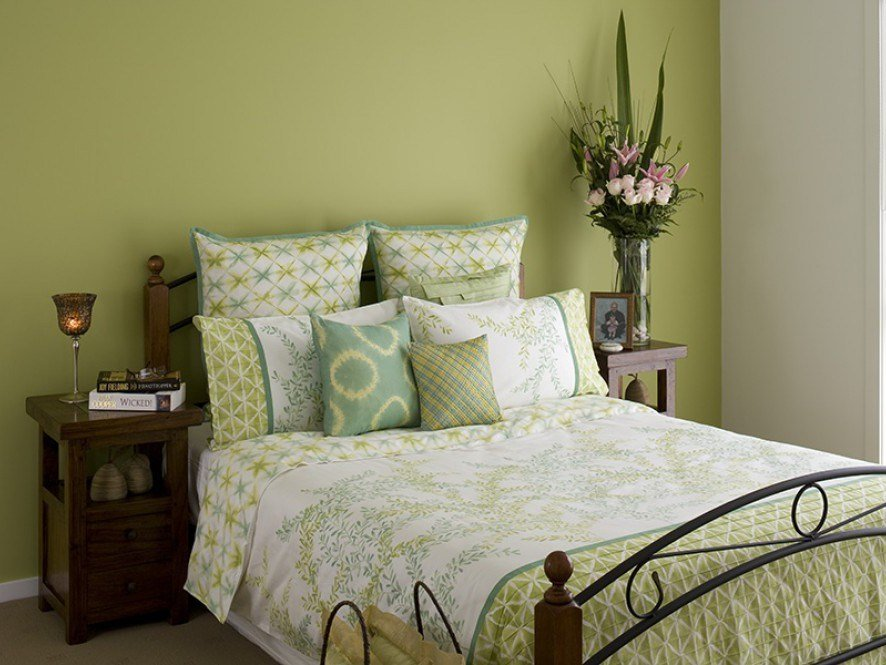 Best Modern Green Bedroom Feature Wall Inspirations Paint With Pictures