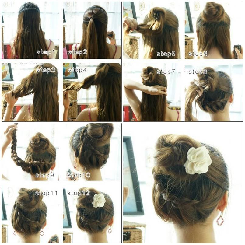 Free How To Make Beautiful French Braids Updo Hairstyle Wallpaper