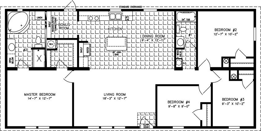 Best Large Manufactured Home Floor Plans Jacobsen Homes With Pictures