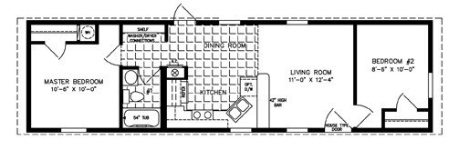Best 500 To 799 Sq Ft Manufactured Home Floor Plans Jacobsen With Pictures