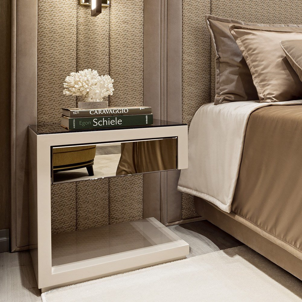 Best High End Contemporary Italian Designer Bedside Table With Pictures