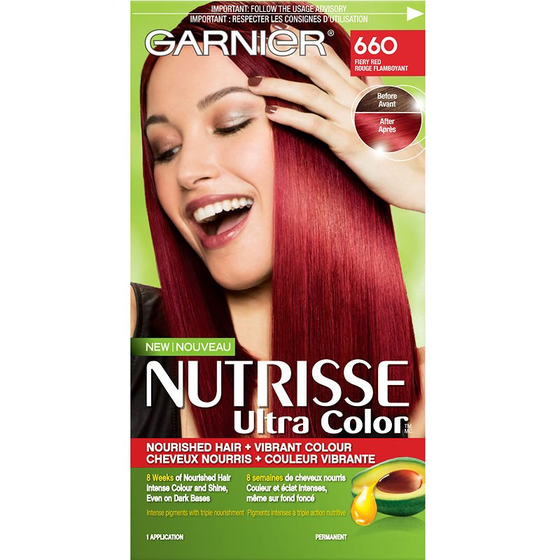 Free Garnier Nutrisse Ultra Color Permanent Hair Colour 660 Fiery Red London Drugs Wallpaper