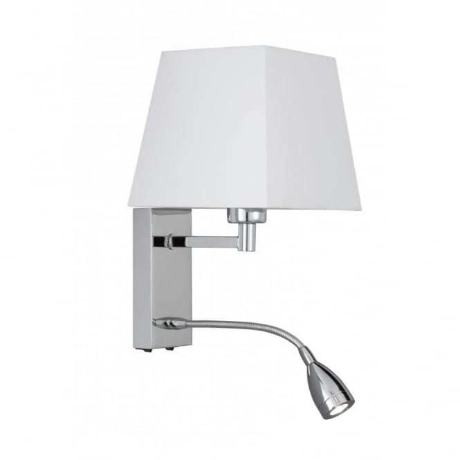 Best Over Bed Wall Light With Shade Incorporating Flexible Led With Pictures