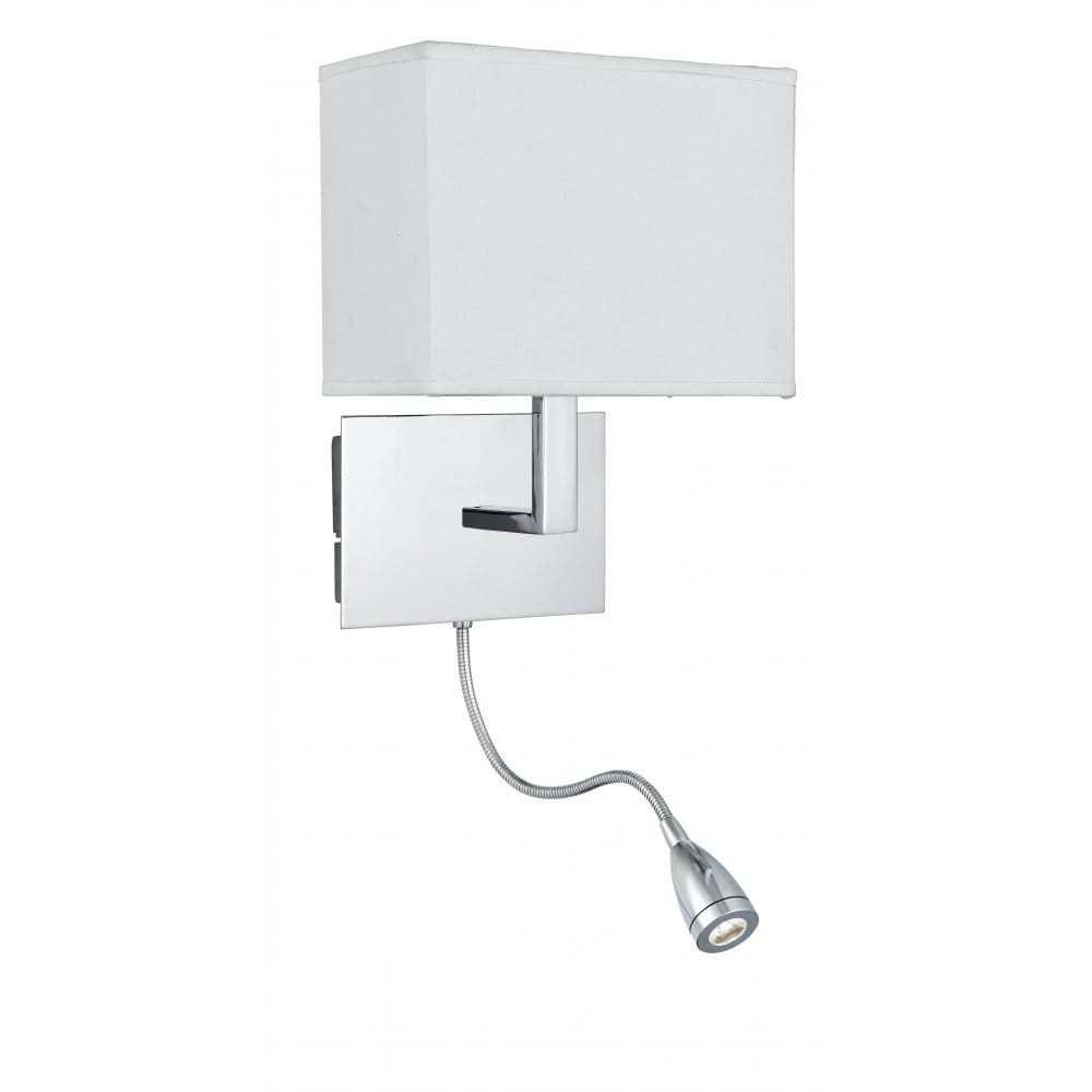 Best Low Energy Over Bed Chrome Wall Light With Led Flexible With Pictures