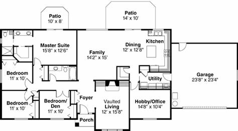 Best Ranch House Plan 4 Bedrooms 2 Bath 2086 Sq Ft Plan 17 477 With Pictures