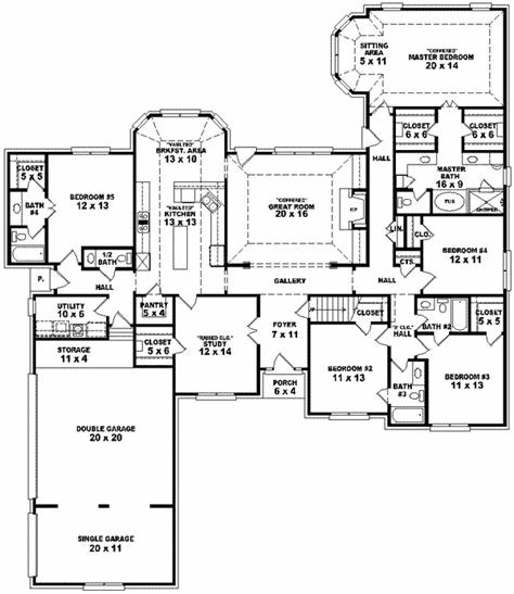 Best Traditional House Plan 5 Bedrooms 4 Bath 3105 Sq Ft With Pictures