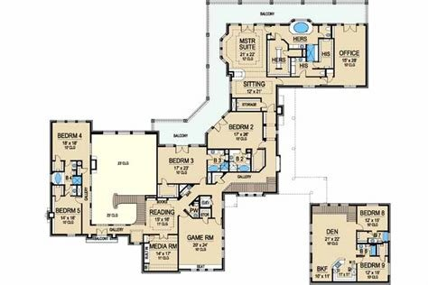 Best Mediterranean House Plan 9 Bedrooms 8 Bath 14736 Sq Ft With Pictures