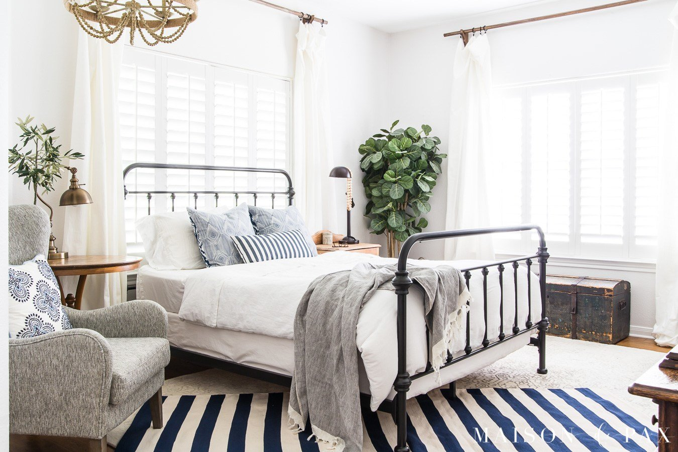 Best Blue And White Bedroom Ideas For Summer Maison De Pax With Pictures