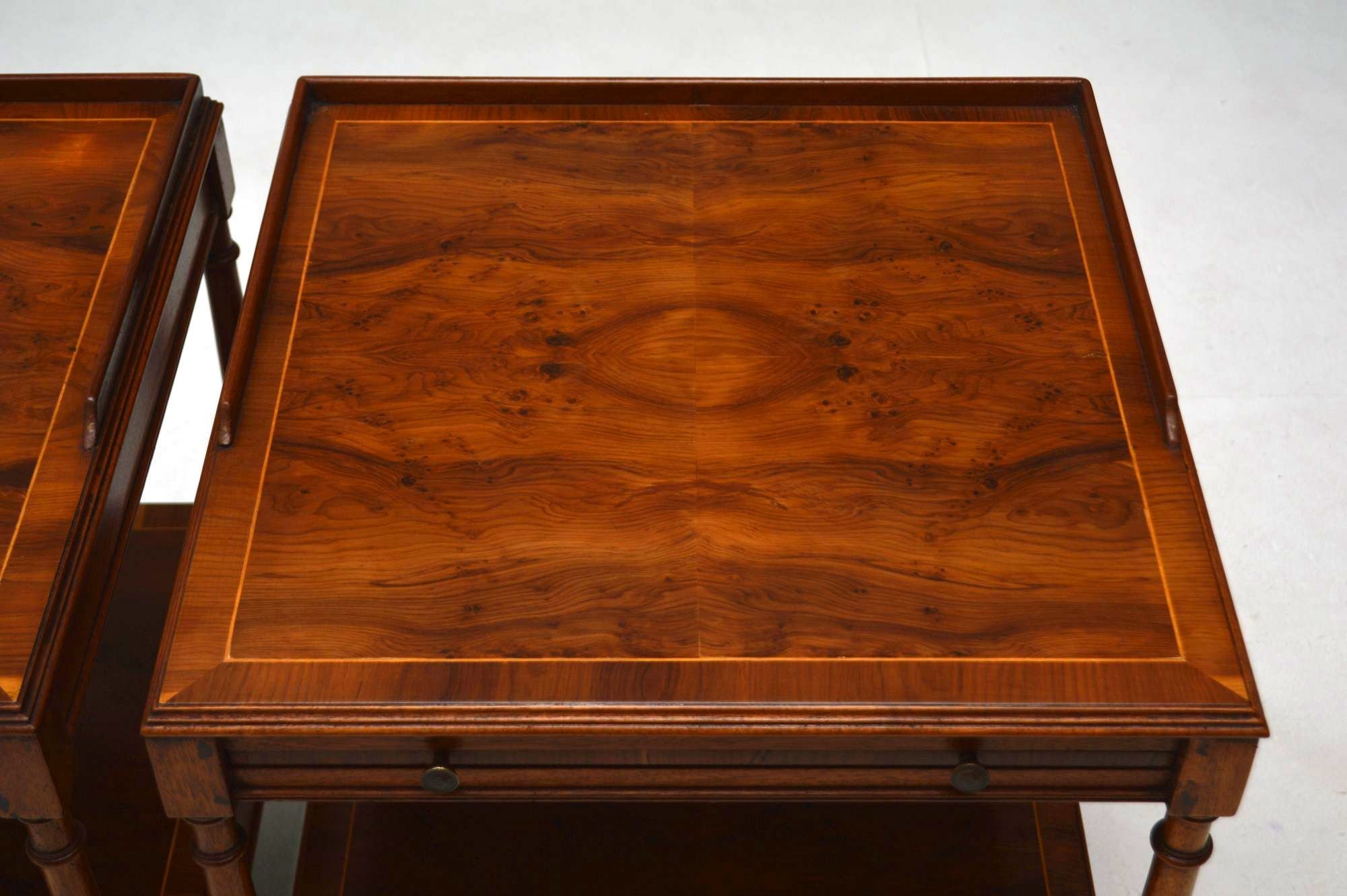 Best Pair Of Antique Yew Wood Side Or Lamp Tables Marylebone Antiques – Sellers Of 19Th Century With Pictures