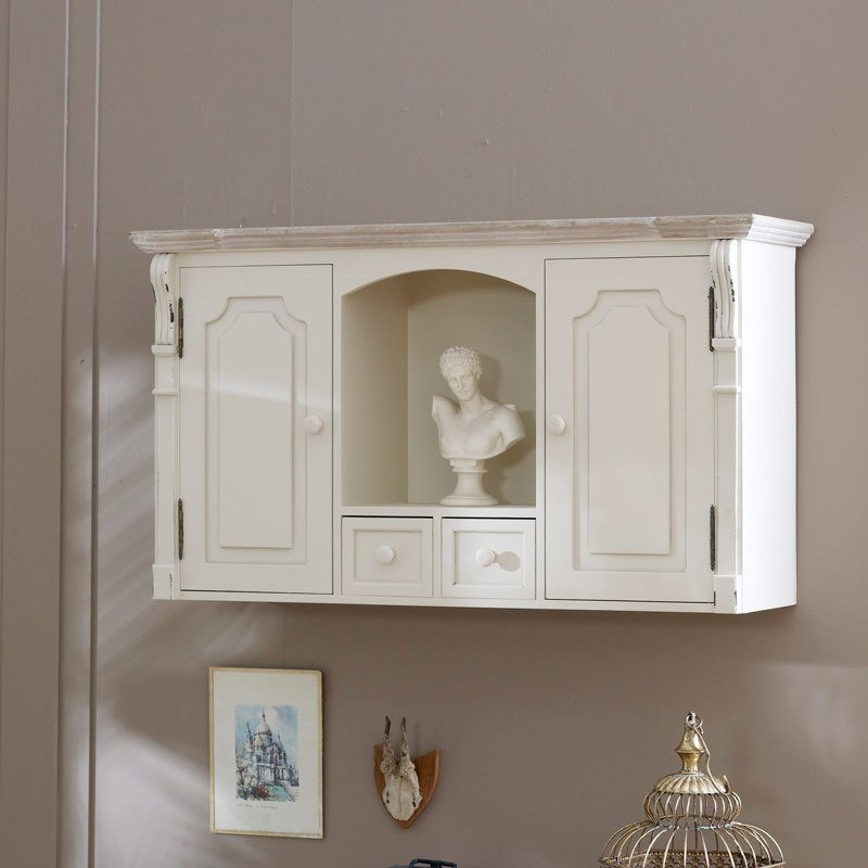 Best Cream Cupboard Shelf Drawers Storage French Chic Living With Pictures